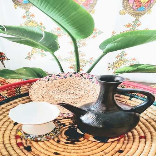 Eritrean Clay coffee Pot Set
