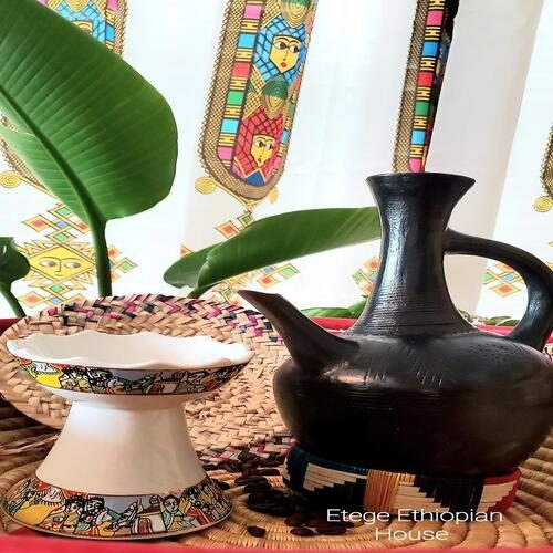 Ethiopian Eritrean Clay coffee Pot Set