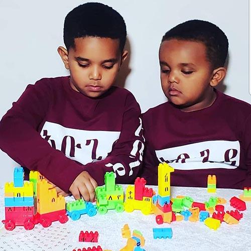 Amharic Alphabet train kit box
