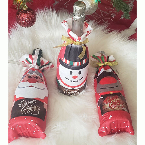 Christmas decoration wine bottle