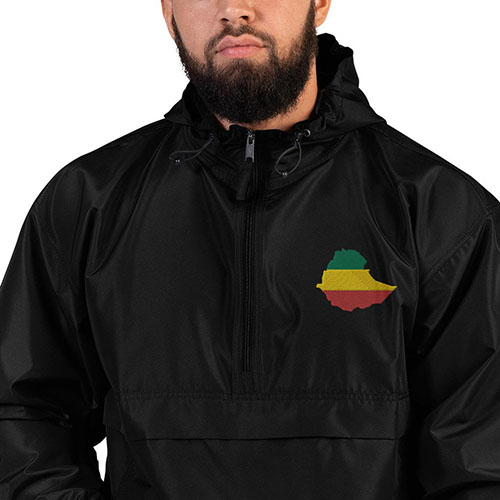 Unisex Embroidered packable jacket