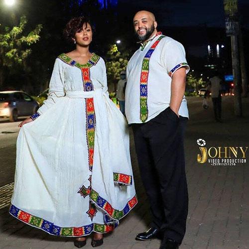 Ethiopian Couples Cultural Dress