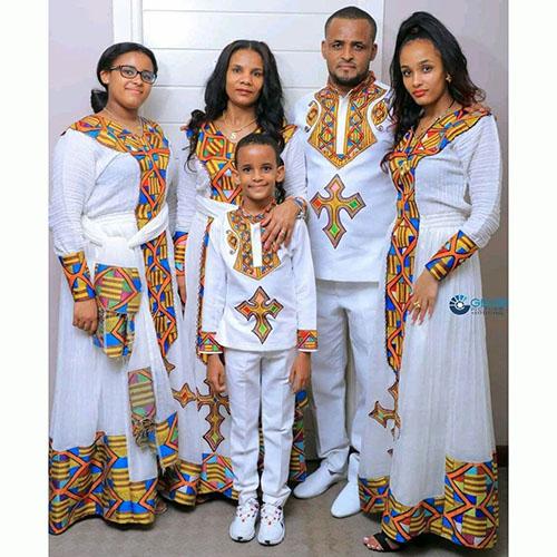 Ethiopian Family Cultural Dress