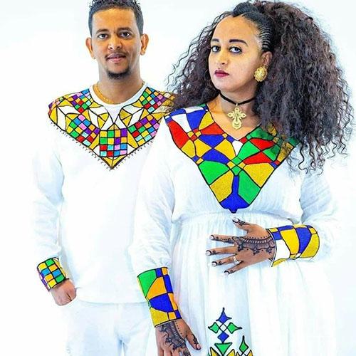 Couples Habesha Kemis Clothing