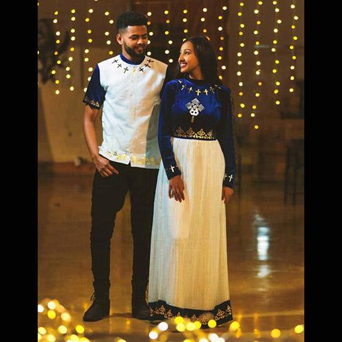 Ethiopian Couples Cultural Dress Clothe
