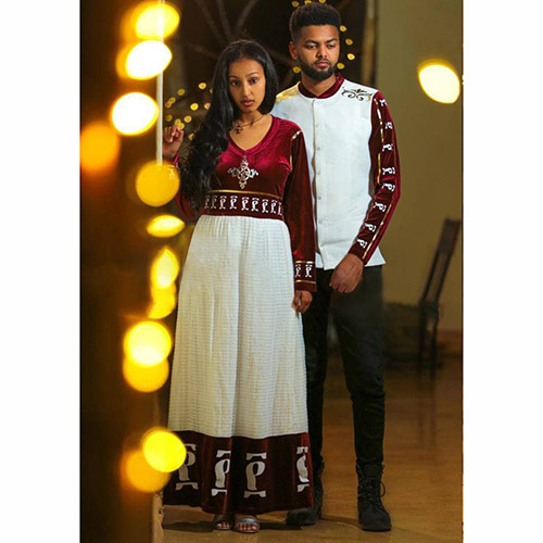 Ethiopian Eritrean Traditional Couples Clothing