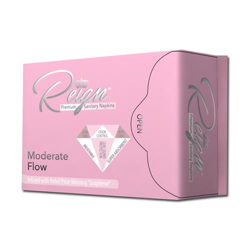 Moderate Flow Reign sanitary napkins