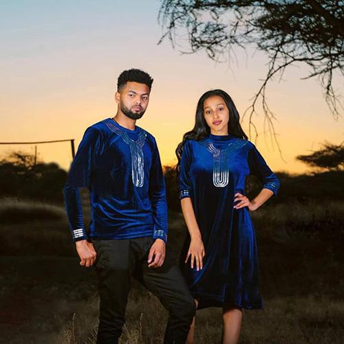 Ethiopian Couples Cultural Outfit