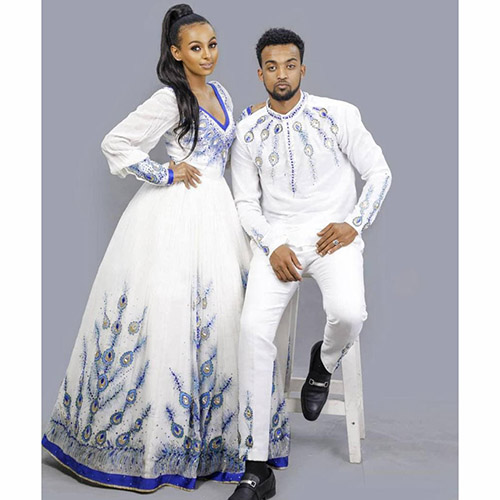 Cute Couples Ethiopian Traditional Clothing