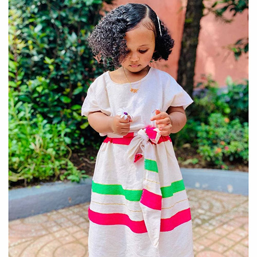 Ethiopian Traditional Kids Dress