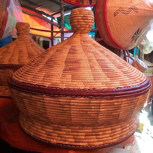 Hand woven Ethiopian Basket Mesob