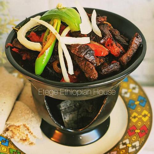 Ethiopian Ceramic Nonstick Traditional Beef Tibs Server