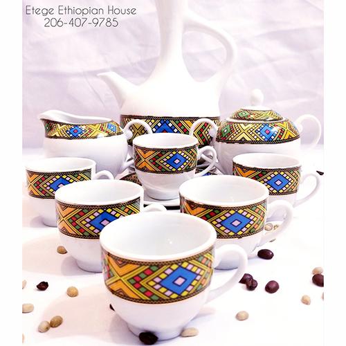 Ethiopian Eritrean Coffee Set Bright Tebeb Edition
