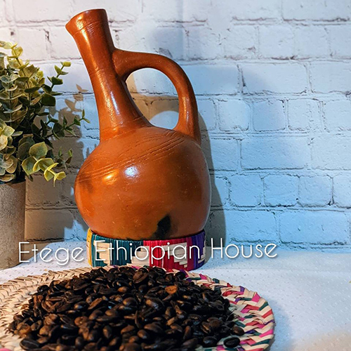 Large Ethiopian and Eritrean Clay coffee Pot Set