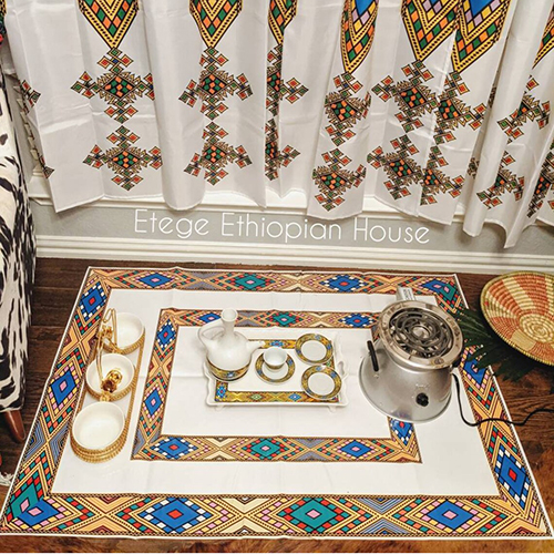 Ethiopian Eritrean Large Vinyl Coffee Ceremony Mat