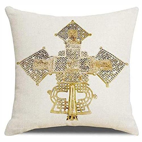 Ethiopian Golden Cross Pillowcase