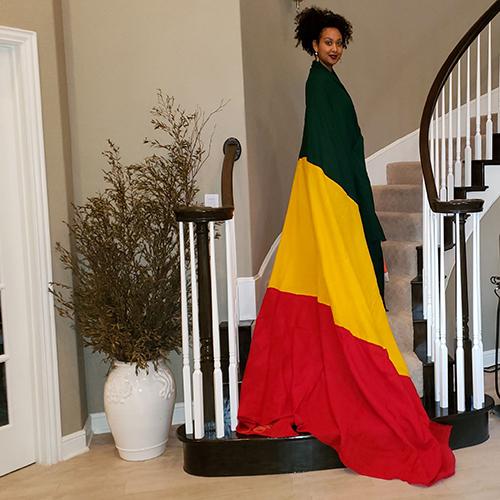 Ethiopian Flag wrap
