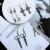Special Design Scissors Cross Spoon Fork Compass Ruler Men and Women Charm Earring