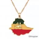 Ethiopia Pendant Chain Necklaces For Women and Men