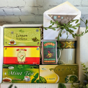 100+ Etege Choice Assorted Organic Tea Bags_5 unique Imported flavors_ Includes a tea mug and a customized card