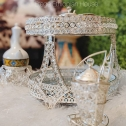 Circular Ethiopian/Eritrean- Rekebot Coffee Serving Table Set of 4- Silver 14″ Tall & 14″ Wide. Coffee cups and pot sold Separately