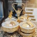 Ethiopian, Eritrean & Italian 4 pcs Desert and fruits Stand. Perfect for Birthdays, Graduation Baby showers. 16′ x 16′ _ 9oz porcelain bowls
