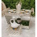 Large Ethiopian/Eritrean/- Rekebot Cultural Coffee Table Set of 4- SILVER