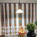 Curtain set- Etege's Queen Design – High Quality Polyester Fabric. Prices and size vary