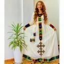 New Fashion Ethiopian Cultural Dress (Habesha Kemis)