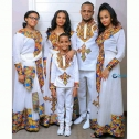 Ethiopian Family Cultural Dress and T-shirt