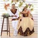 Ethiopian Couples Wedding Dress and T-shirt